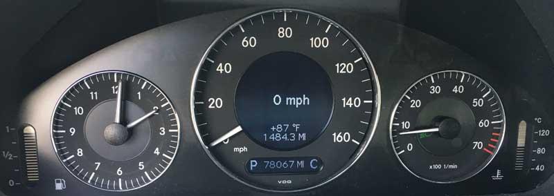 2006-Mercedes-E350-Wagon-Odometer