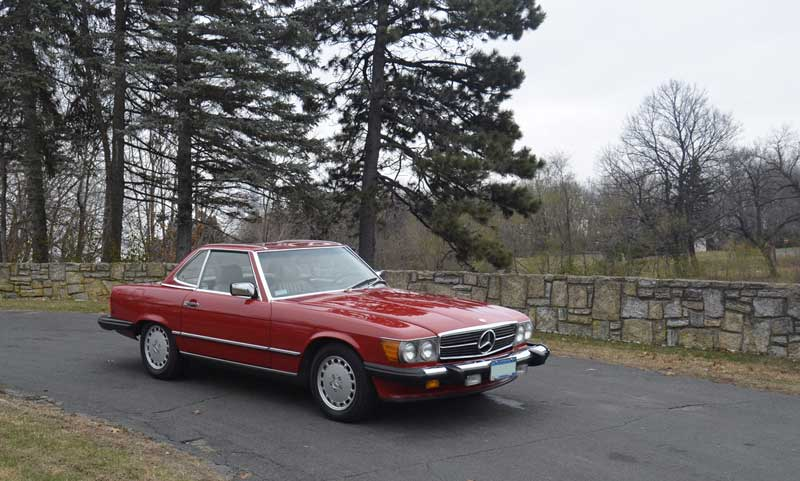 Signal Red Mercedes 560SL 560 SL Tobin Motor Works