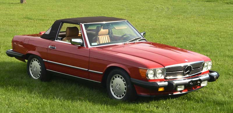 Mercedes-R107-560SL-For-Sale-soft-top