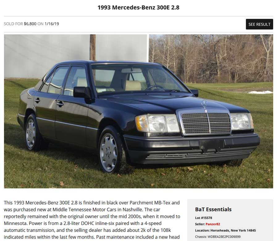 Mercedes-W124-300E-For-Sale-Tobin-Motor-Works